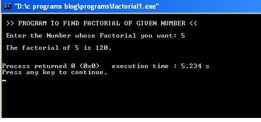 C-Program-Factorial-output
