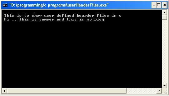 C-User-defined-header-files-output