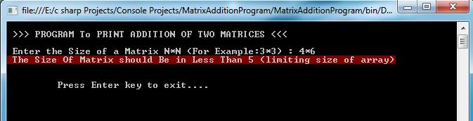 Matrix Addition Output_3