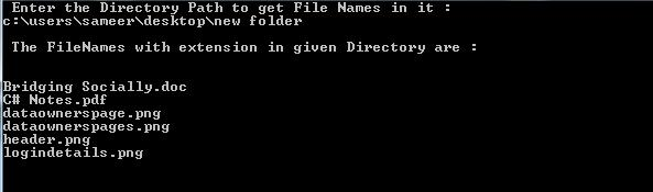 C#.Net Get FileNames Output