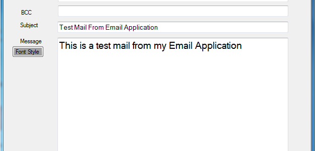 Email Sending Application free download