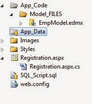Registration Form in ASP.NET using Entity Framework Data Model